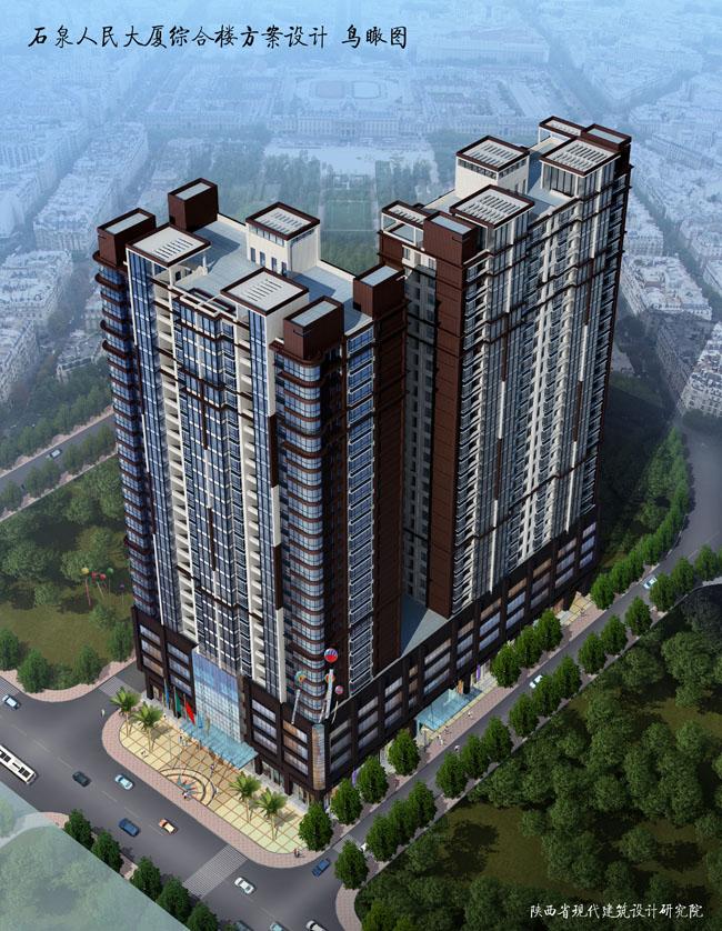 石泉人民大厦 - 在建工程 - 浙江金鲁建设有限公司